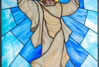 Vetrata istoriata Cristo